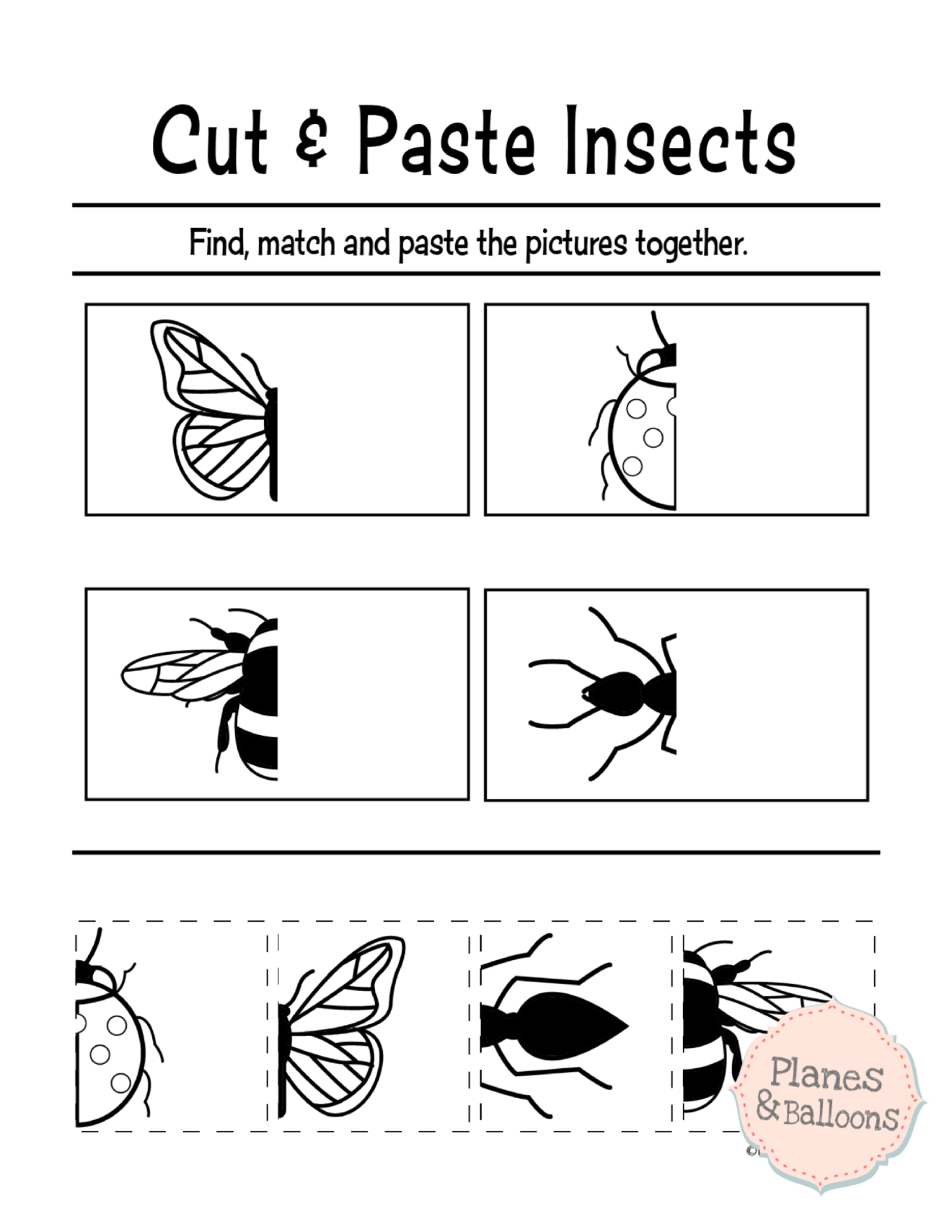 Free Printable Cut And Paste Worksheets For Preschool | Kidstuff - Free Printable Kindergarten Worksheets Cut And Paste