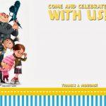 Free Printable Despicable Me Birthday Invitation | Free Printable   Thanks A Minion Free Printable