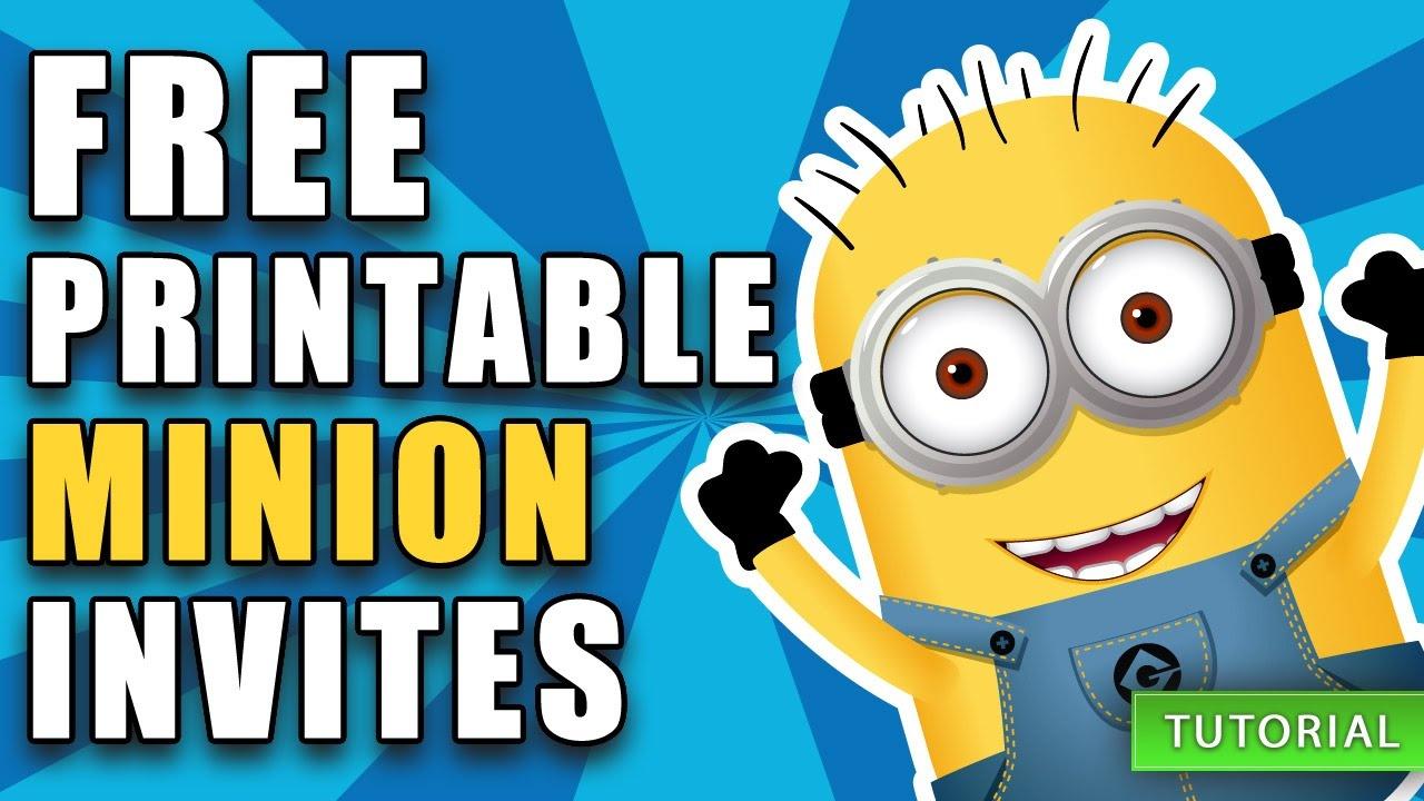 Free Printable Despicable Me Minion Birthday Invitation - Thanks A Minion Free Printable
