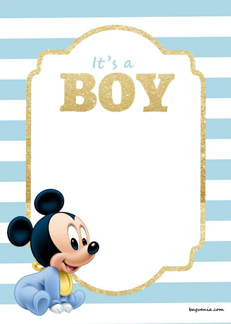 Free Printable Disney Baby Shower Invitations | Free Printable - Free Printable Baby Shower Invitations Templates For Boys
