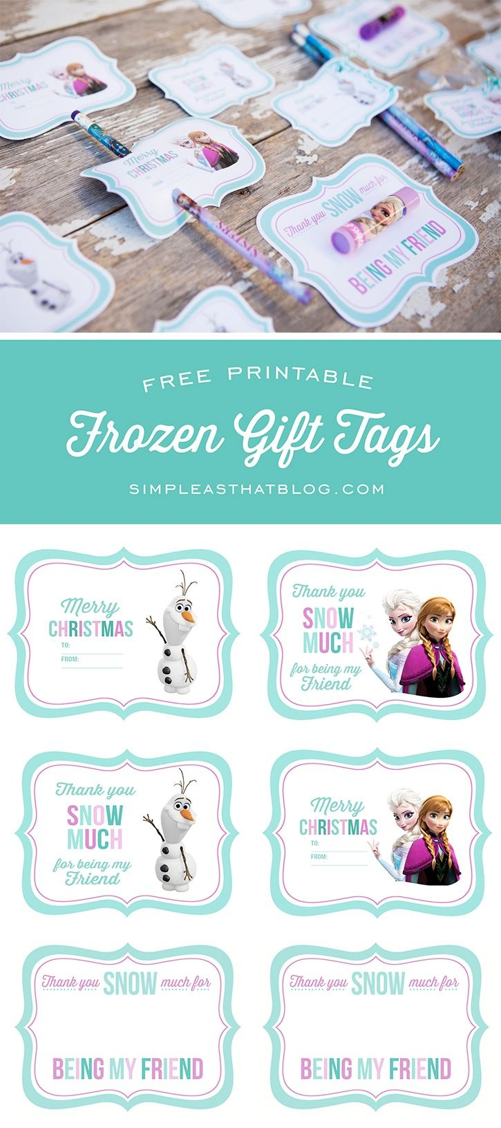 Free Printable Disney Frozen Gift Tags | Free Printables | Frozen - Party Favor Tags Free Printable