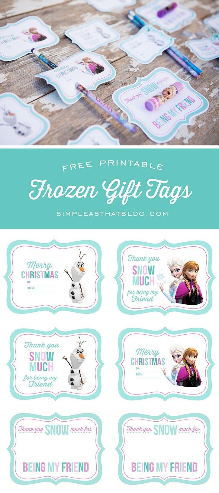 Free Printable Disney Frozen Gift Tags | Simple As That Printables - Free Online Gift Tags Printable