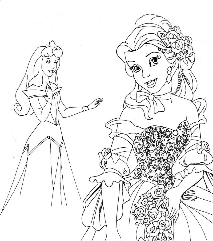 Free Printable Disney Princess Coloring Pages For Kids - Free Printable Coloring Pages Of Disney Characters