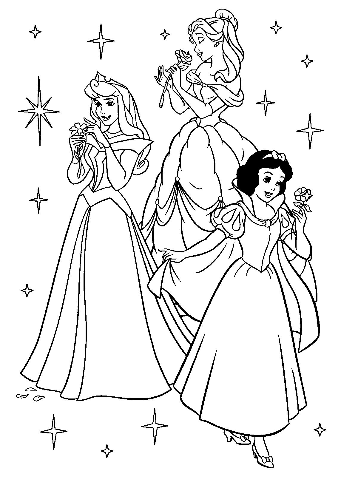 Free Printable Disney Princess Coloring Pages For Kids   Színezők - Free Printable Coloring Pages Of Disney Characters