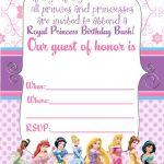 Free Printable Disney Princess Ticket Invitation | Printable   Free Printable Princess Invitations