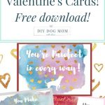Free Printable Dog Themed Valentine's Day Cards | Dog Valentine's   Free Printable Mothers Day Card From Dog