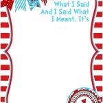 Free Printable Dr Seuss Birthday Invitations | Free Printable   Dr Seuss Free Printable Templates