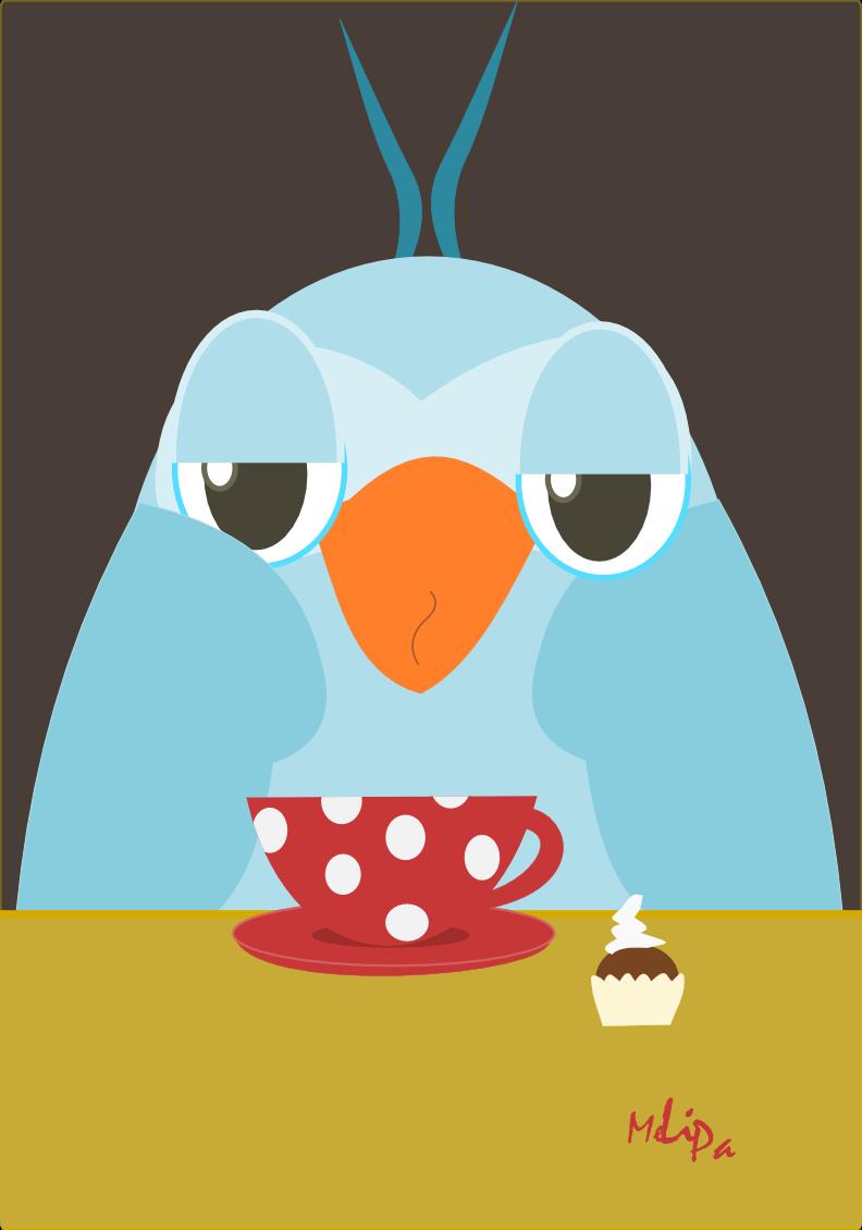Free Printable Early Bird Illustration - Kaffeeeule Clipart - Printable Thangles Free
