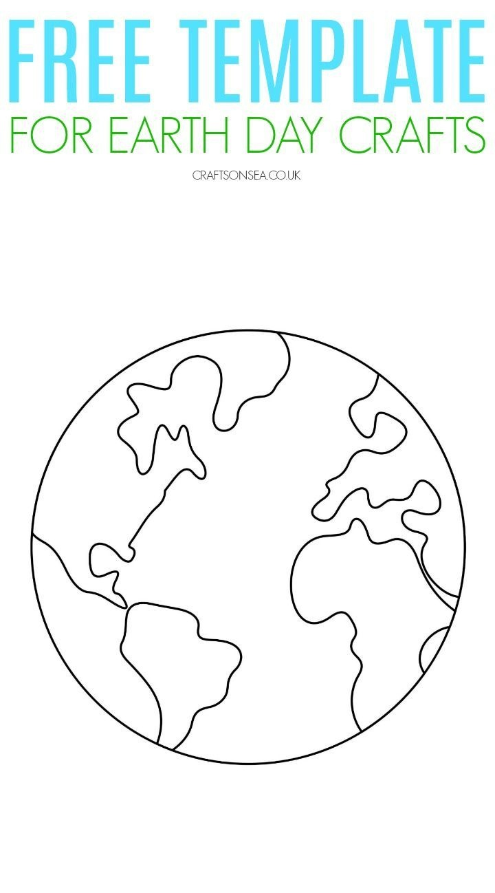 Free Printable Earth Template | Cool Crafts And Activities For Kids - Free Printable Earth Pictures