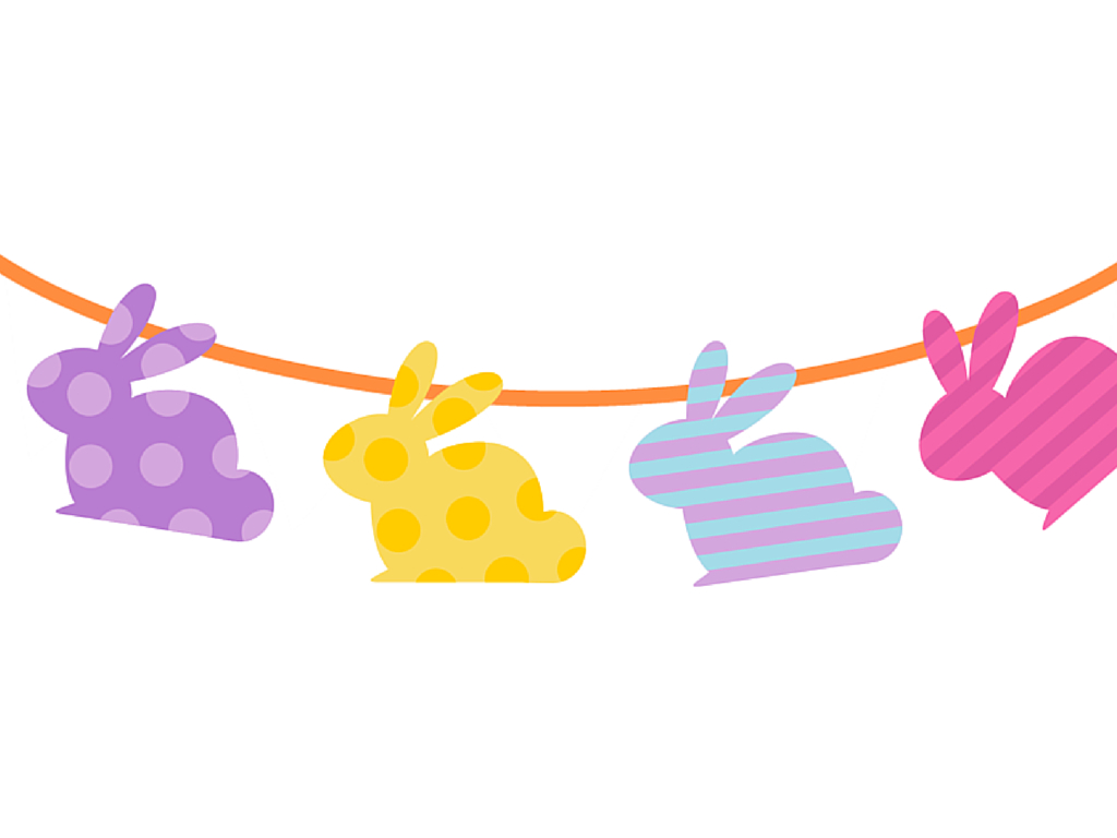 Free Printable Easter Banner & Cupcake Toppers - Magical Printable - Free Printable Easter Bunting