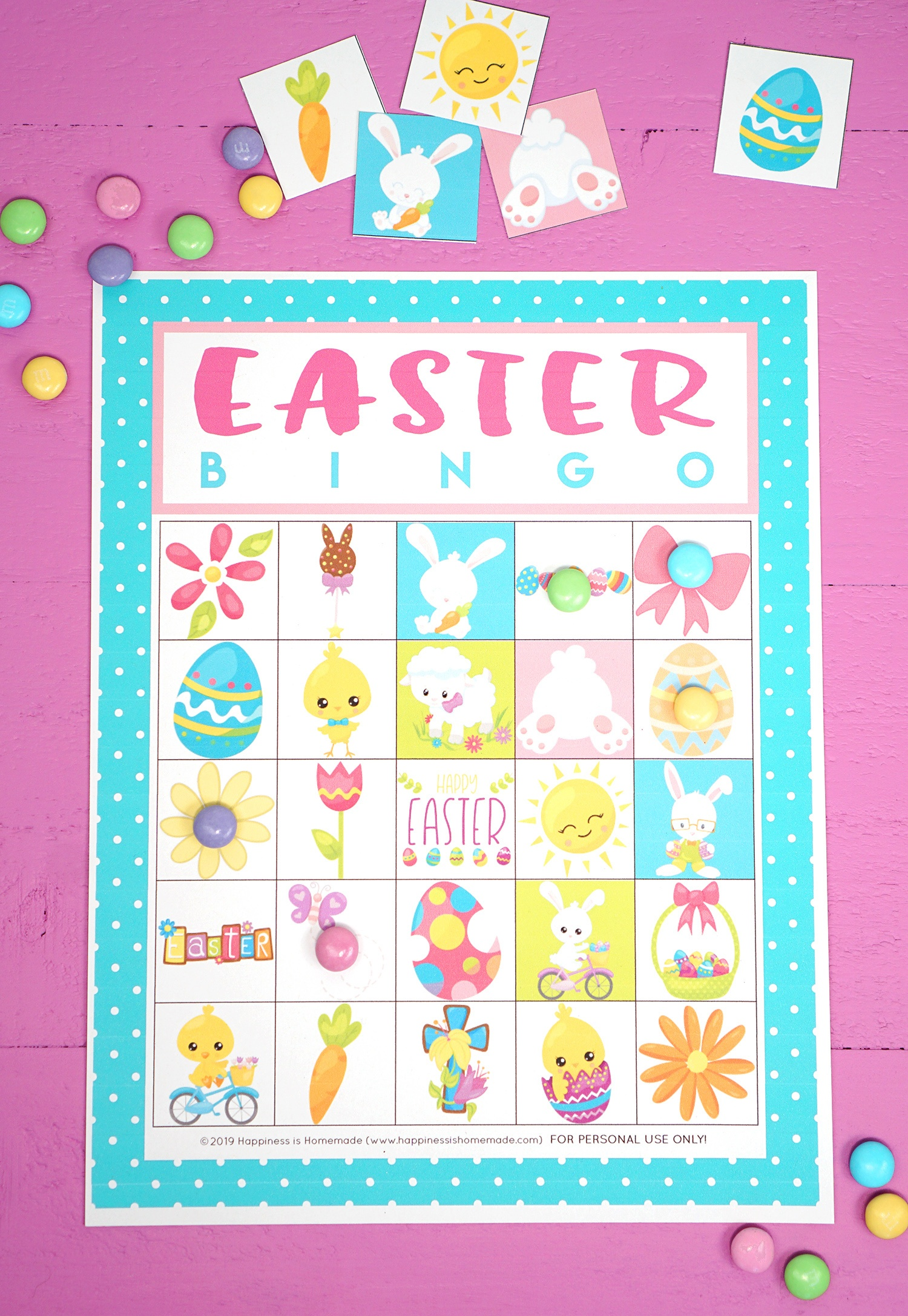 Free Printable Easter Bingo Game Cards - Happiness Is Homemade - Free Printable Easter Cards