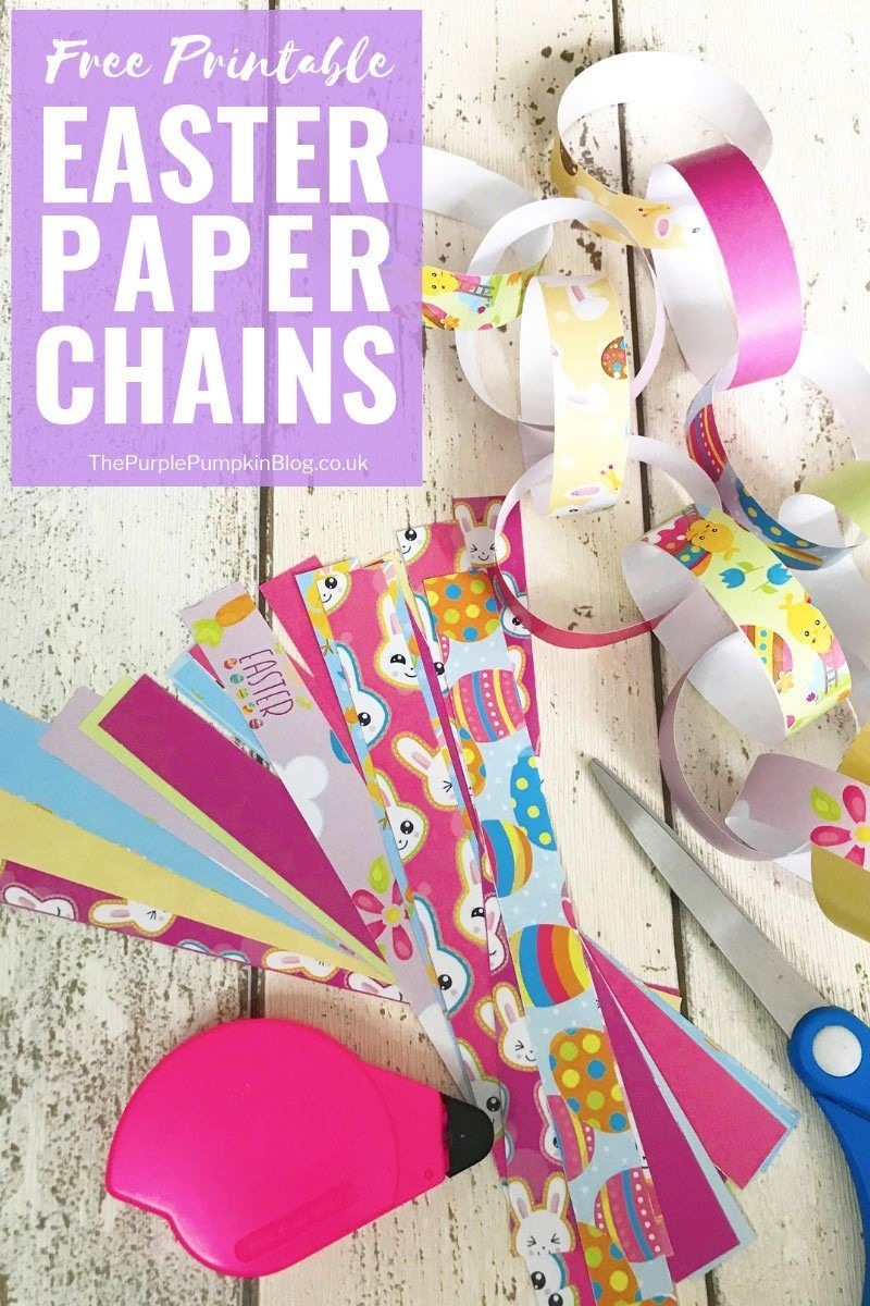 Free Printable Easter Decorations: Paper Chains | Easter Crafts - Free Printable Easter Decorations