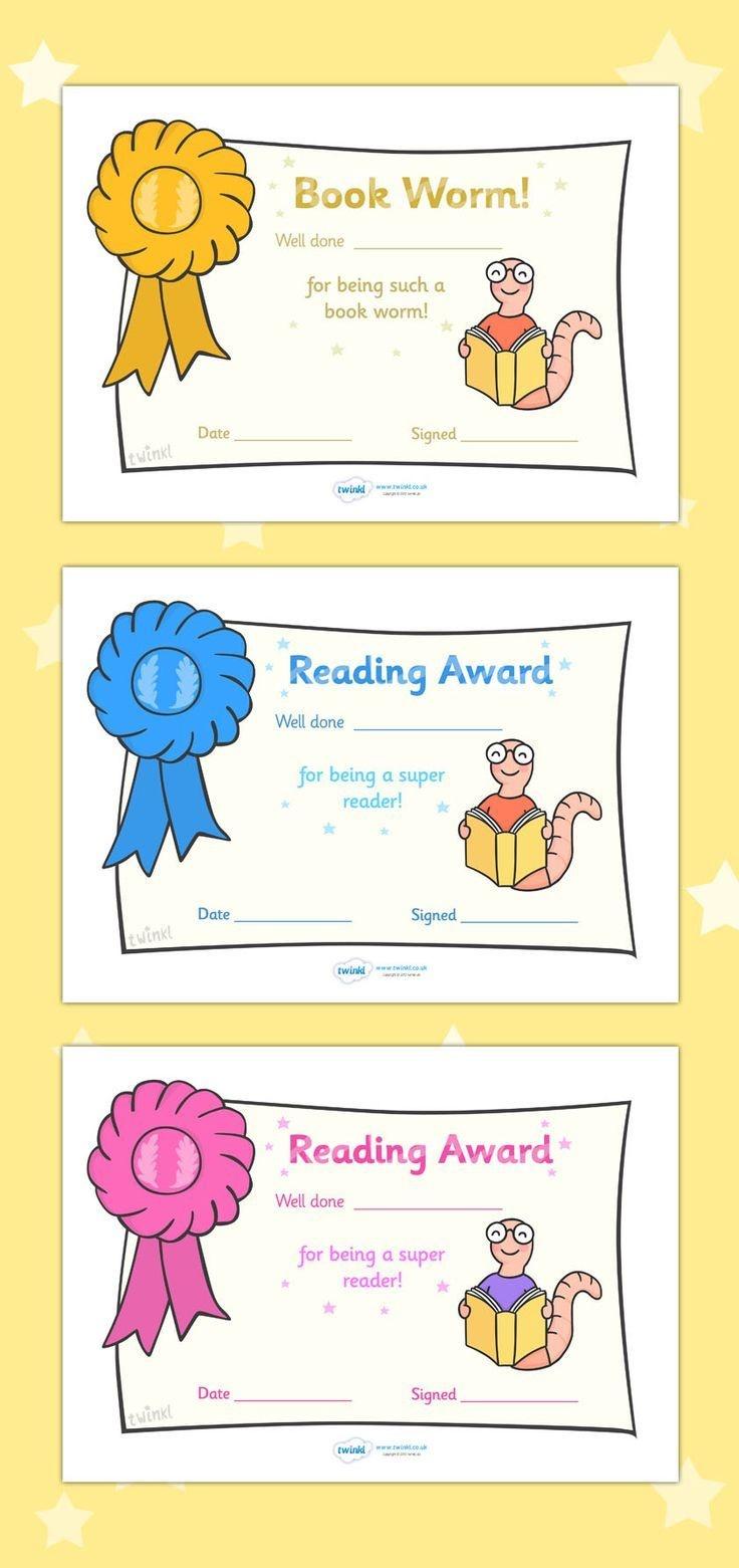 Free Printable Editable Reading Award Certificates …   First Grade - Free Printable Pre K Reading Books