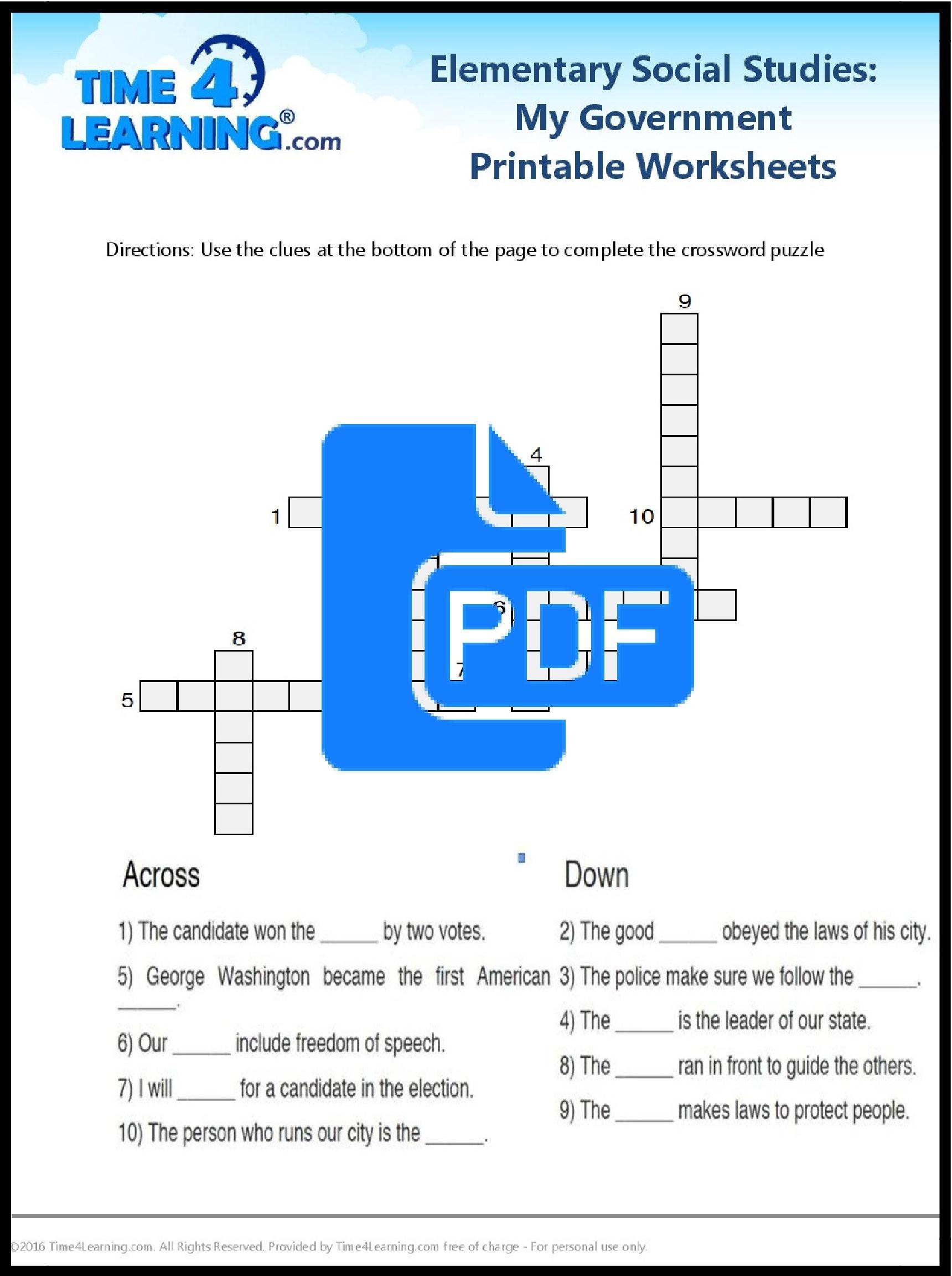Free Printable: Elementary Social Studies Worksheet ...