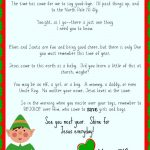 Free Printable Elf On The Shelf Goodbye Letter {Jesus Focused} | The   Free Printable Elf On The Shelf Story