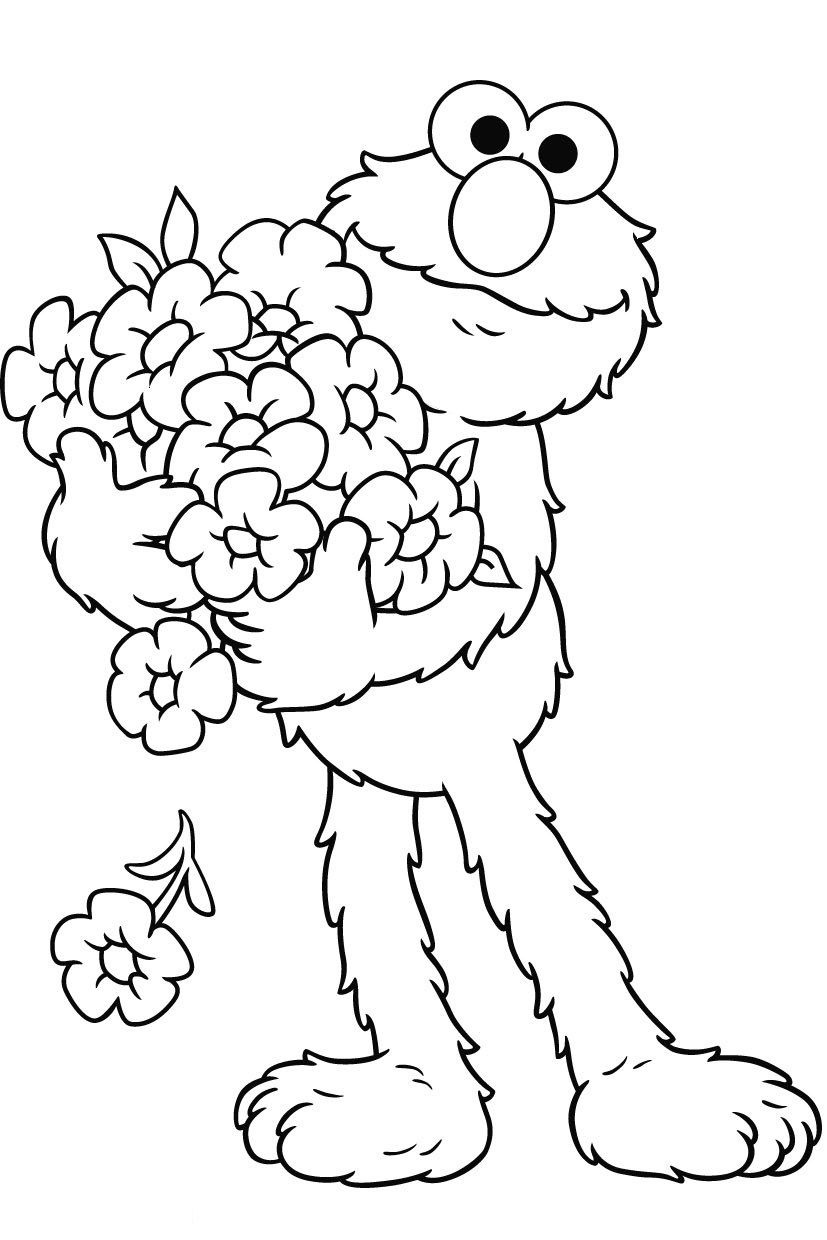 Free Printable Elmo Coloring Pages For Kids | Fun Stuff :d | Elmo - Free Printable Sesame Street Coloring Pages