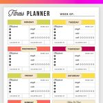 Free Printable Fitness Planner   Meal And Fitness Tracker, Start Today!   Free Printable Fitness Tracker