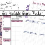 Free Printable Fitness Trackers: 3 Different Monthly Designs   Free Printable Fitness Tracker