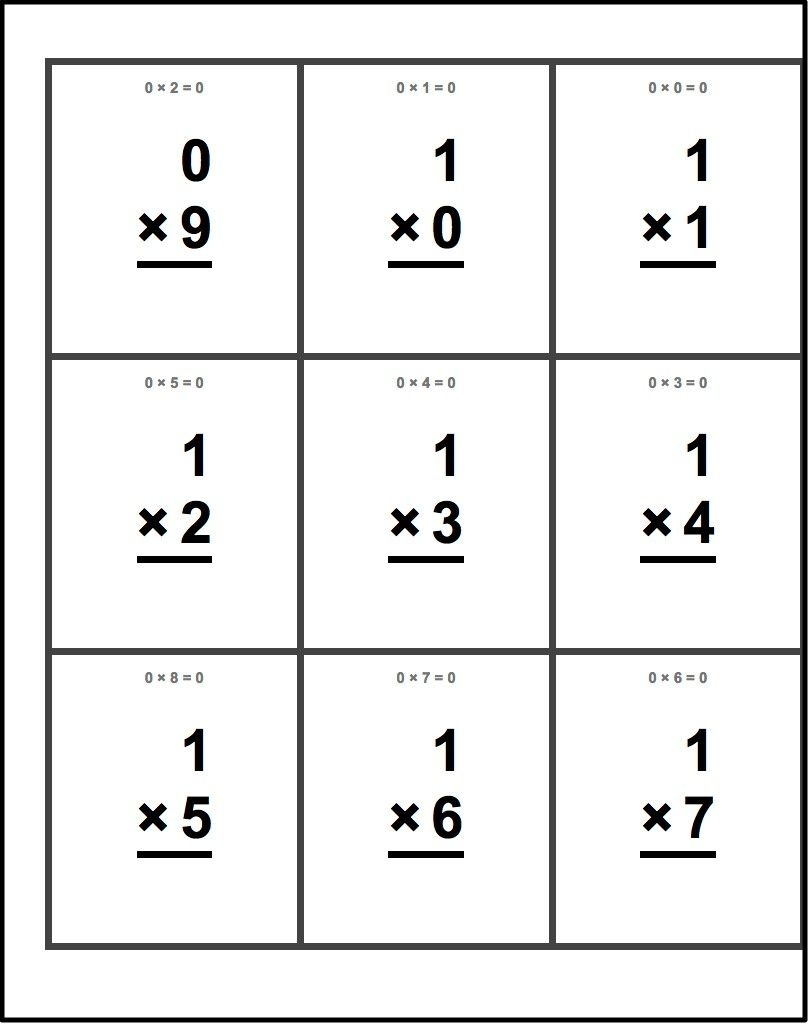 Free Printable Flash Cards For Multiplication Math Facts. This Set - Free Printable Addition Flash Cards