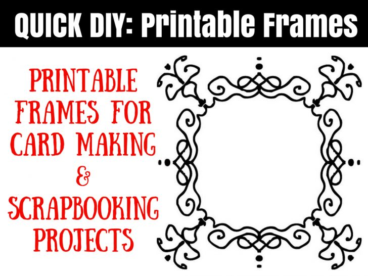 Free Printable Frames For Scrapbooking