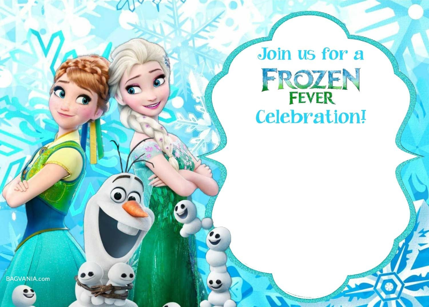 Free Printable Frozen Invitation Templates | Bagvania Free Printable - Free Printable Frozen Birthday Invitations