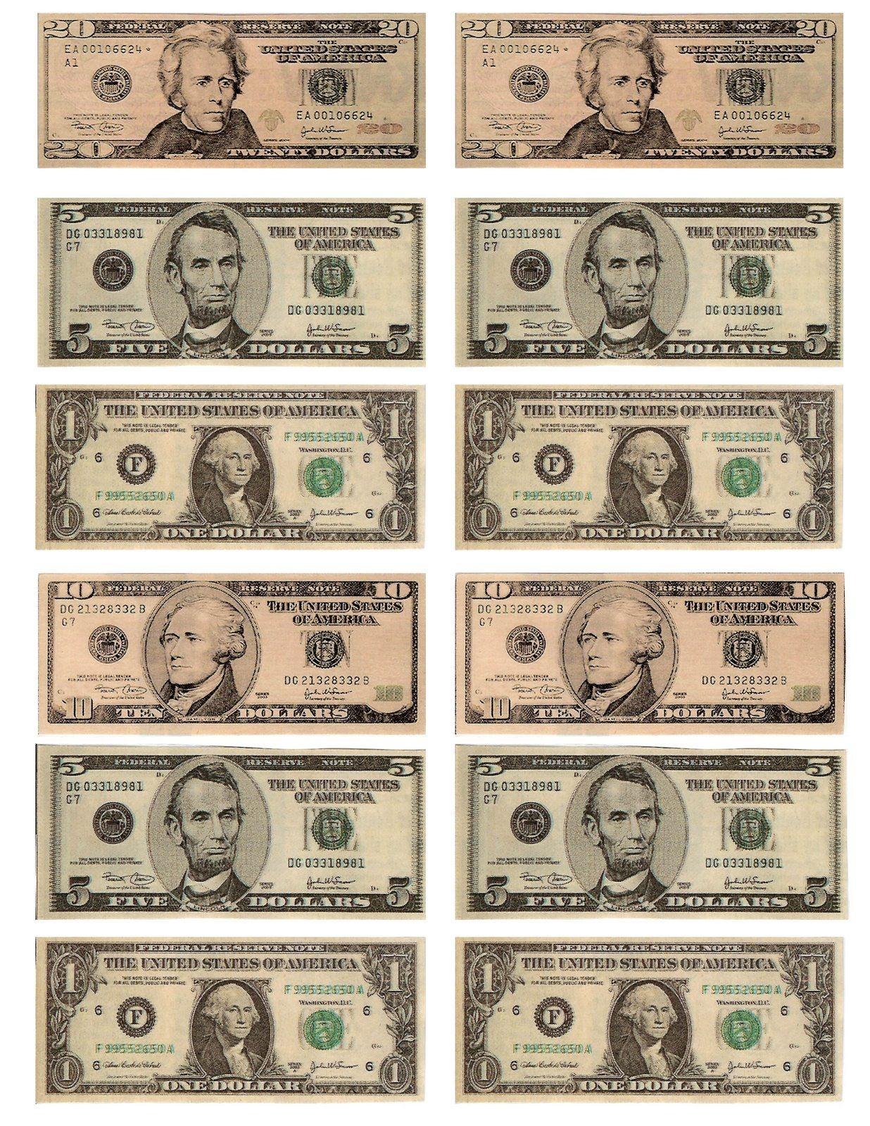 Free Printable Fun For Everyone: Free Printable Play Money - Free Printable Play Money Sheets