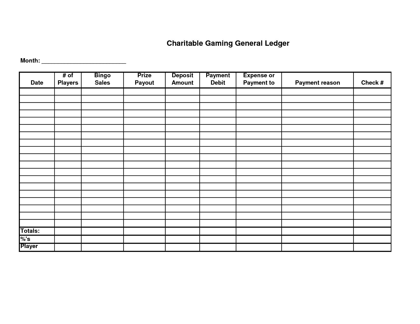 Free Printable General Ledger Sheet | Homemade Stuff | General - Free Printable Accounting Ledger