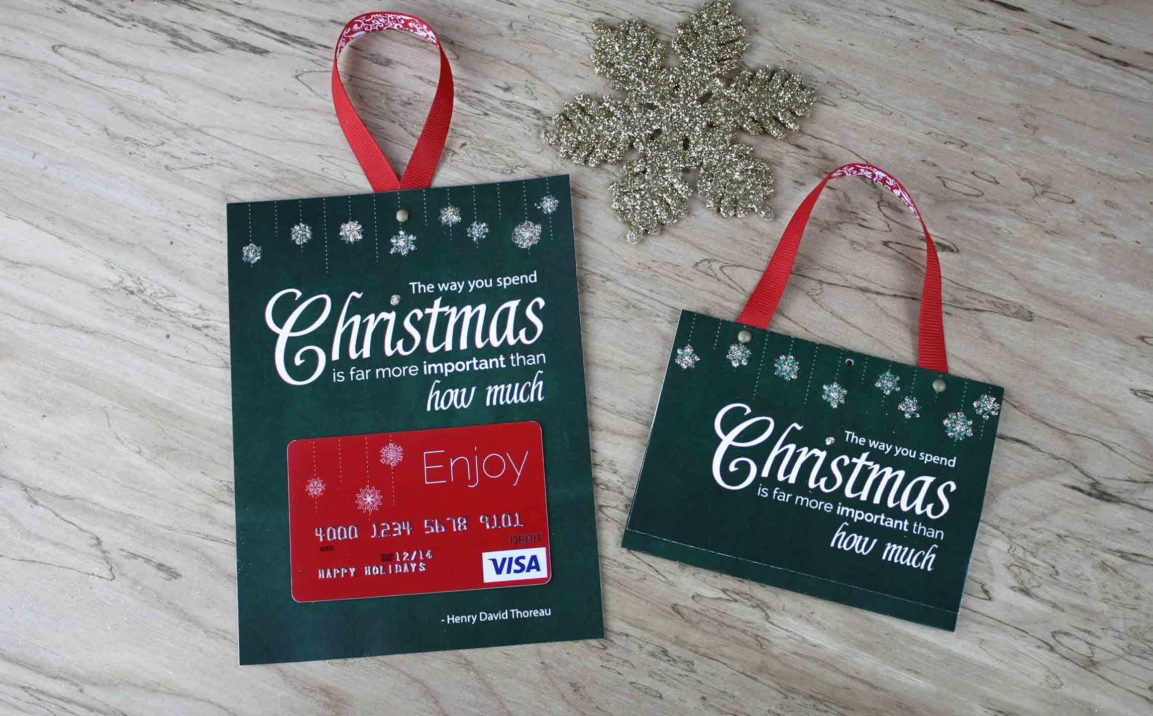Free Printable  Gift Card Holder Spend Christmas - Make A Holiday Card For Free Printable