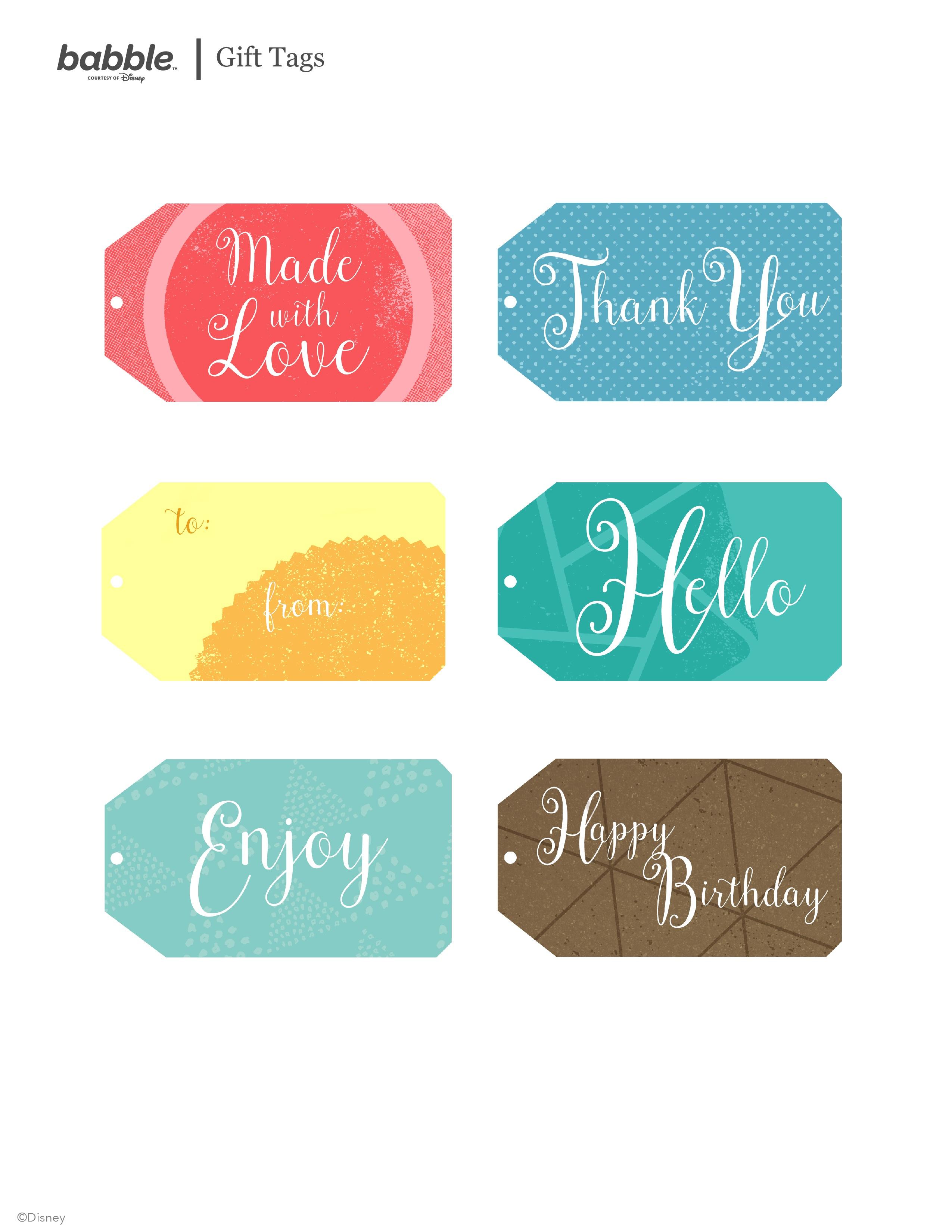 Free Printable Gift Tags | Babble - Free Printable Tags