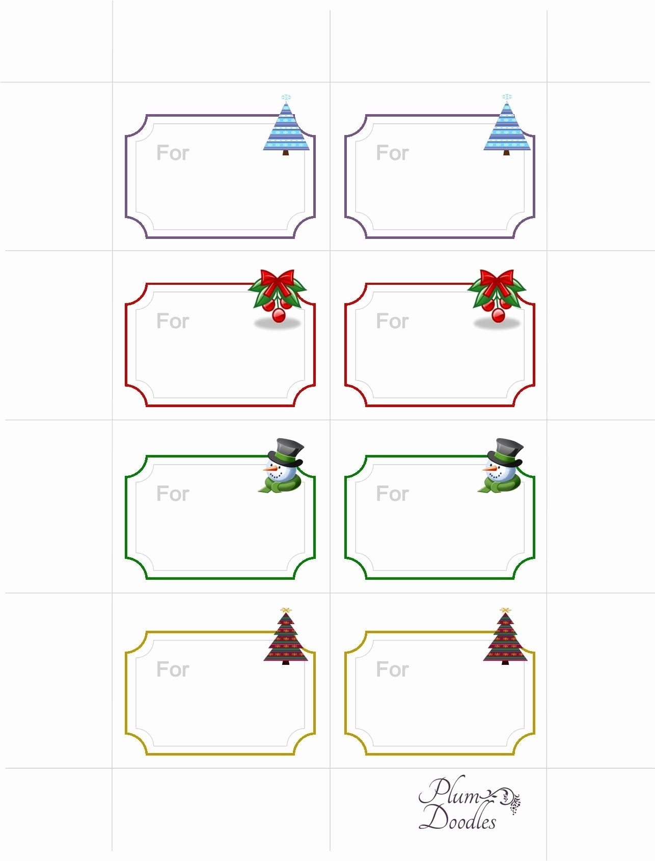 Free Printable Gift Tags Template | Pictimilitude - Free Printable Gift Tags Templates