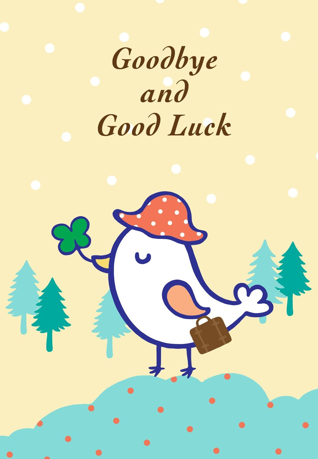 Free Printable Goodbye And Good Luck Greeting Card | Littlestar - Free Printable Funny Boss Day Cards