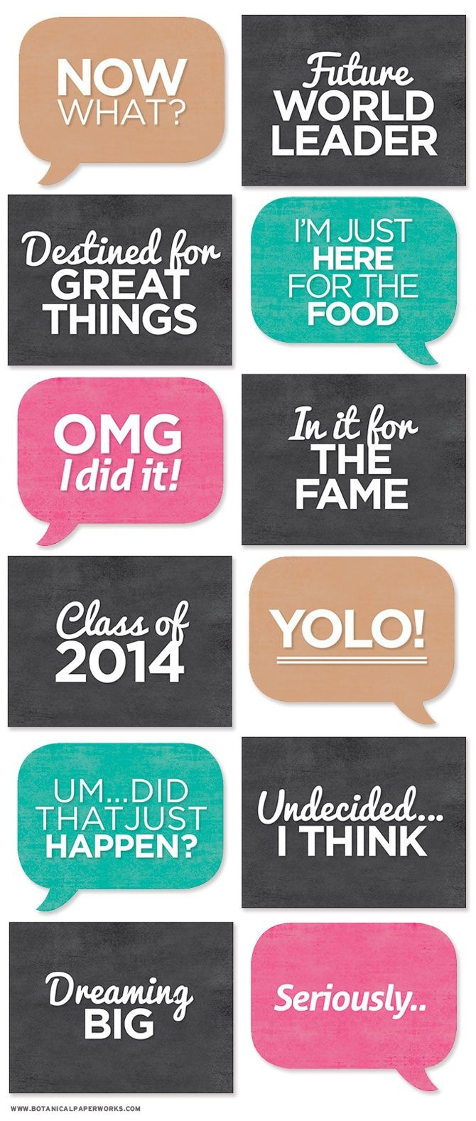 Free Printable} Grad Photo Booth Signs | Crafting Ideas | Graduation - Free Printable Photo Booth Sign Template