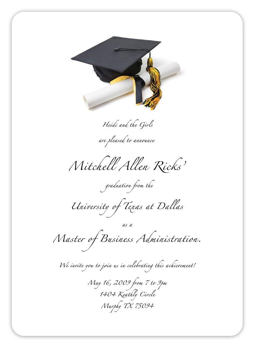 Free Printable Graduation Invitation Templates 2013 2017   Places To - Free Printable Graduation Party Invitations 2014