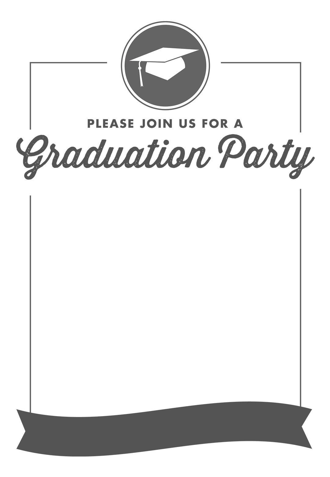 Free Printable Graduation Party Invitation Template   Greetings - Free Printable Graduation Party Invitations 2014