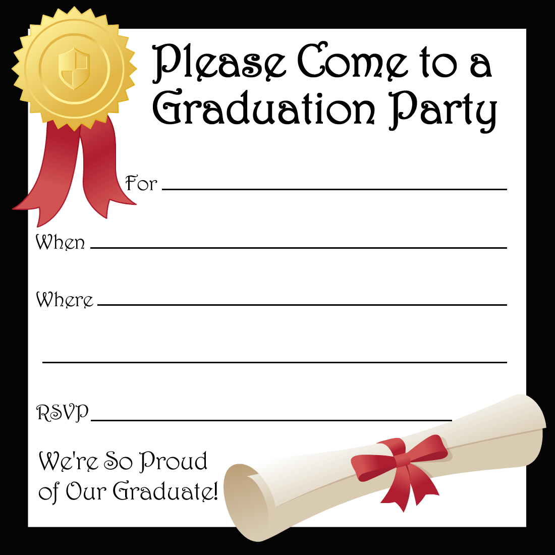 Free Printable Graduation Party Invitations | High School Graduation - Free Printable Graduation Invitations 2014