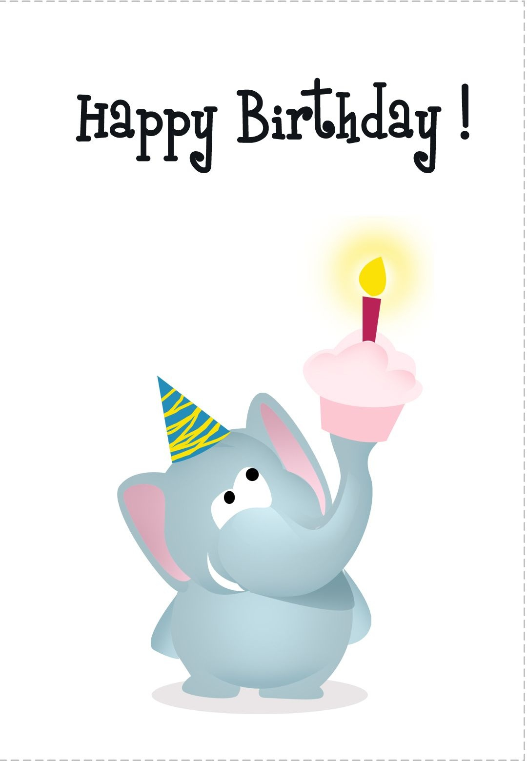 Free Printable Greeting Cards Of All Kinds. With Matching Printable - Free Printable Birthday Cards For Kids