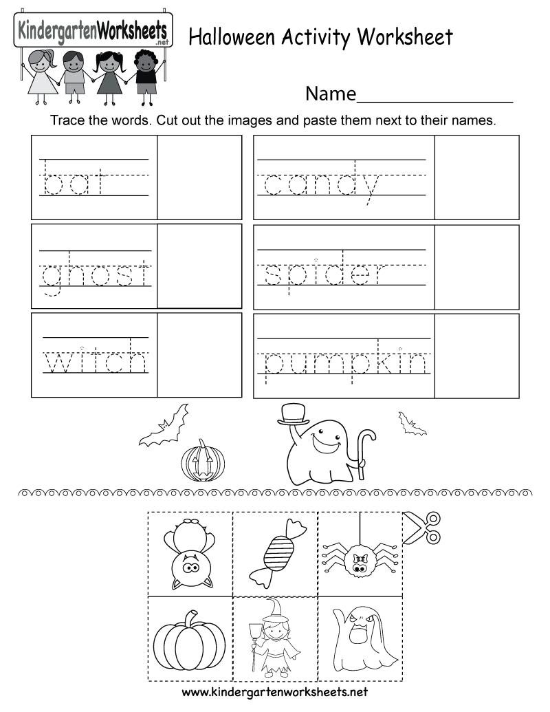 Free Printable Halloween Activity Worksheet For Kindergarten - Free Printable Kid Activities Worksheets