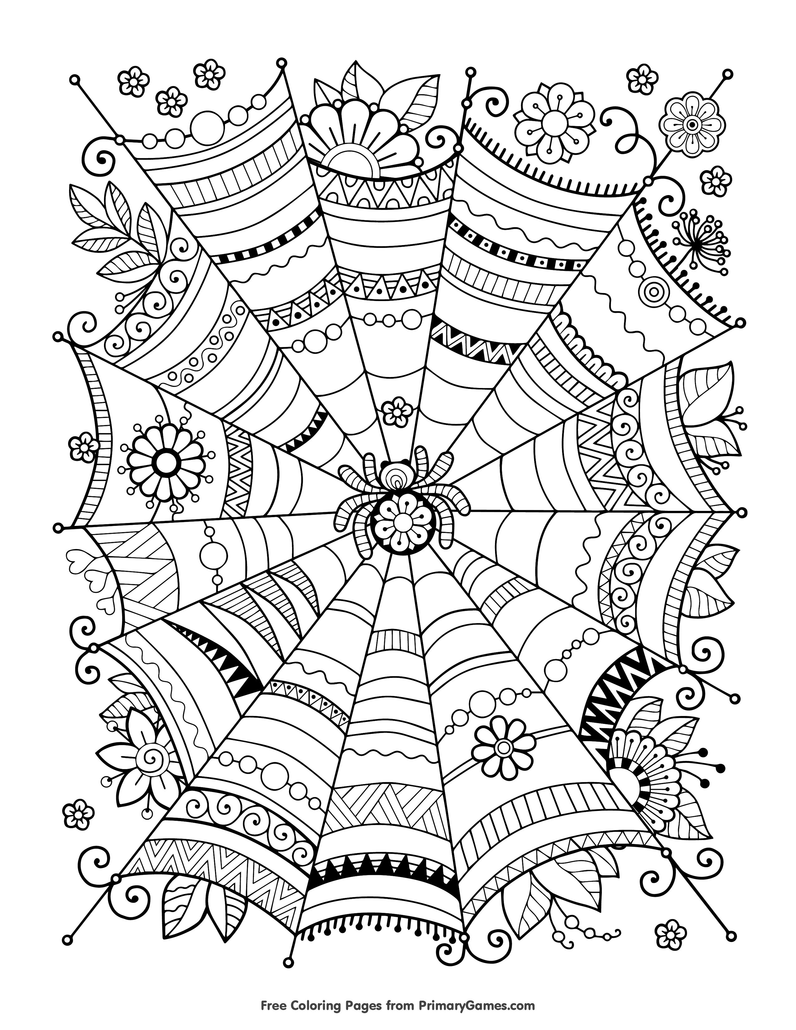 Free Printable Halloween Coloring Pages Adults Archives - Free Printable Halloween Coloring Pages