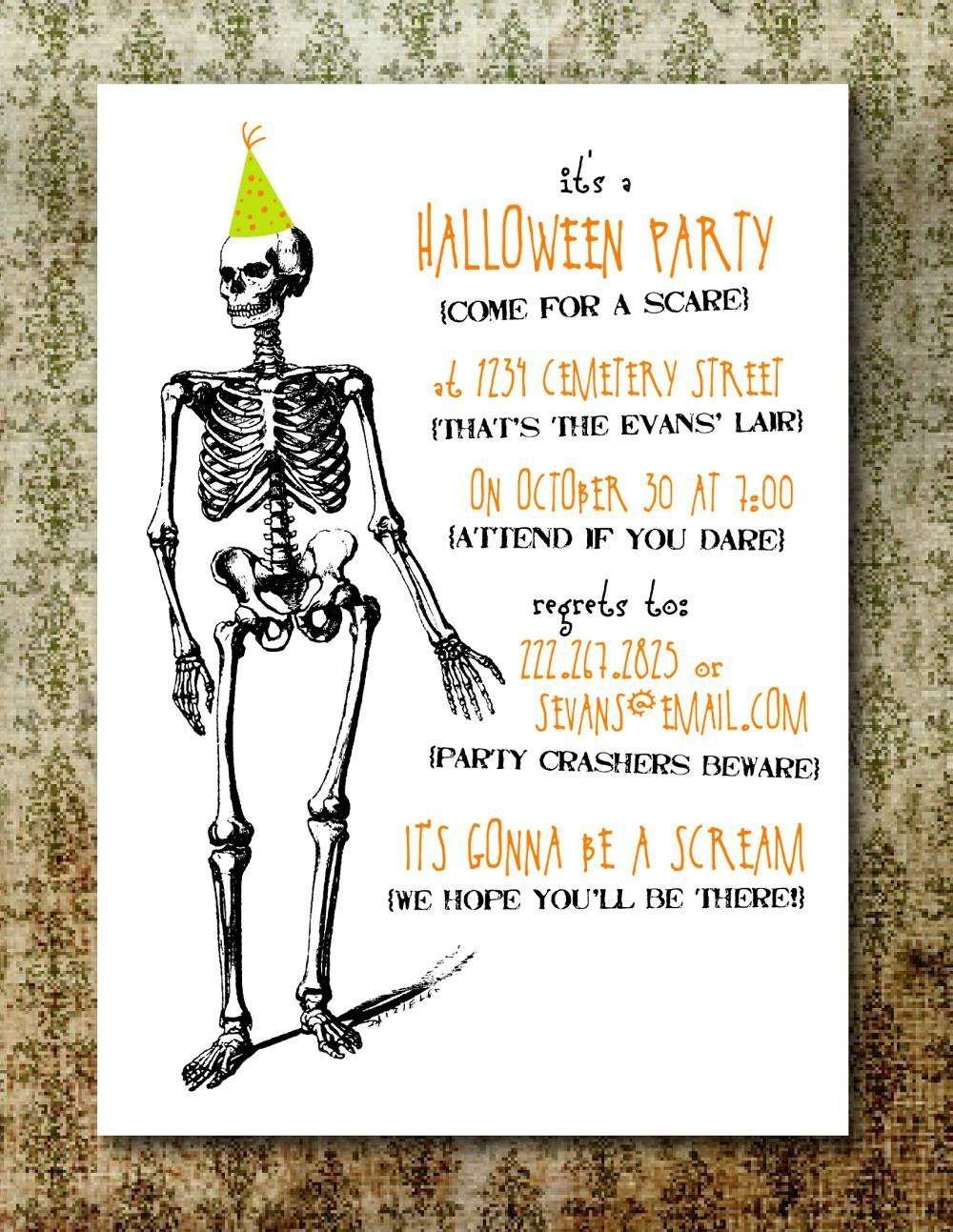 Free Printable Halloween Invitation Templates   Free Printable - Free Halloween Birthday Invitation Templates Printable