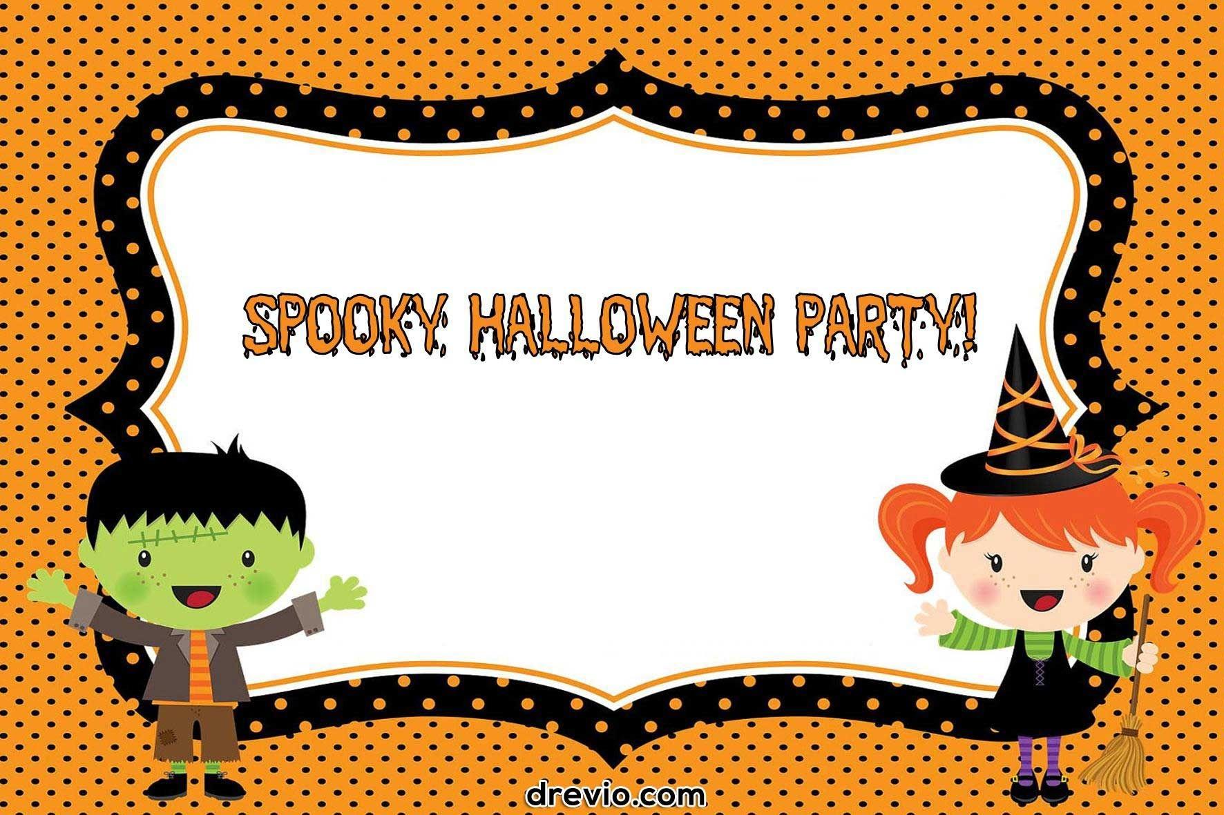Free Printable Halloween Invitations Templates | Free Printable - Free Printable Halloween Birthday Party Invitations