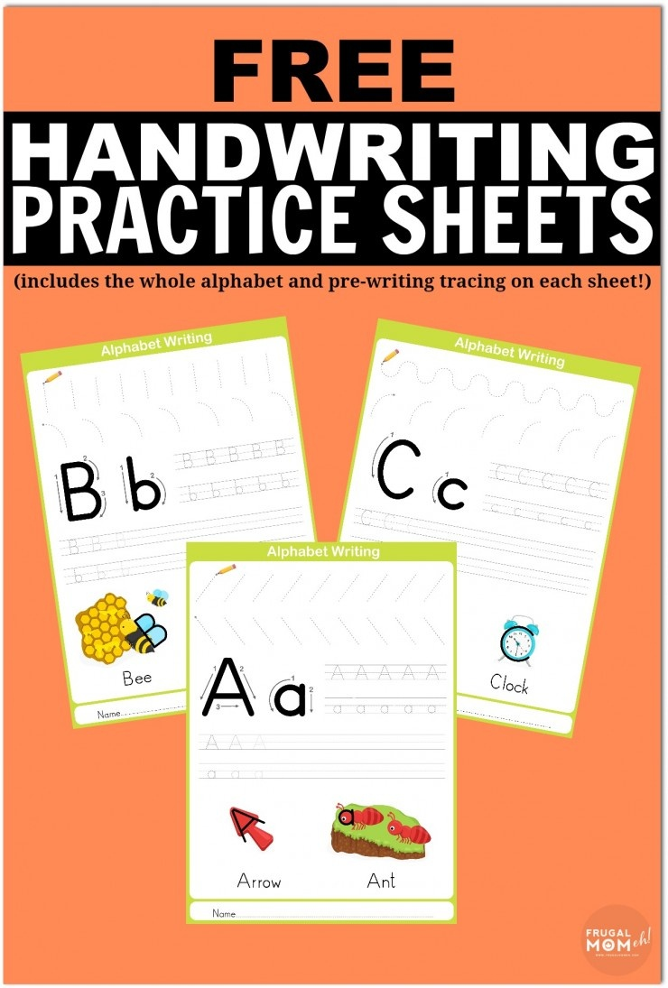 Free Printable Handwriting Worksheets Including Pre-Writing Practice - Free Printable Handwriting Worksheets