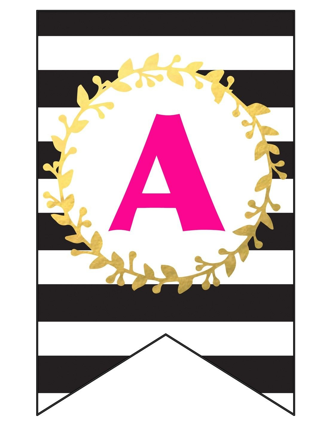Free Printable Happy Birthday Banner And Alphabet | Black White - Free Printable Happy Birthday Banner