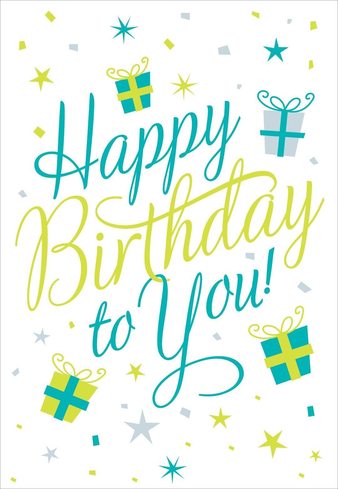 Free Printable Happy Birthday To You Greeting Card #birthday - Happy Birthday Free Cards Printable