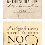 Free Printable Harry Potter Quotes | The Cottage Market   Free Printable Harry Potter Posters