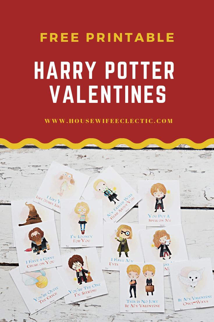 Free Printable Harry Potter Valentines - Housewife Eclectic - Free Printable Harry Potter Pictures