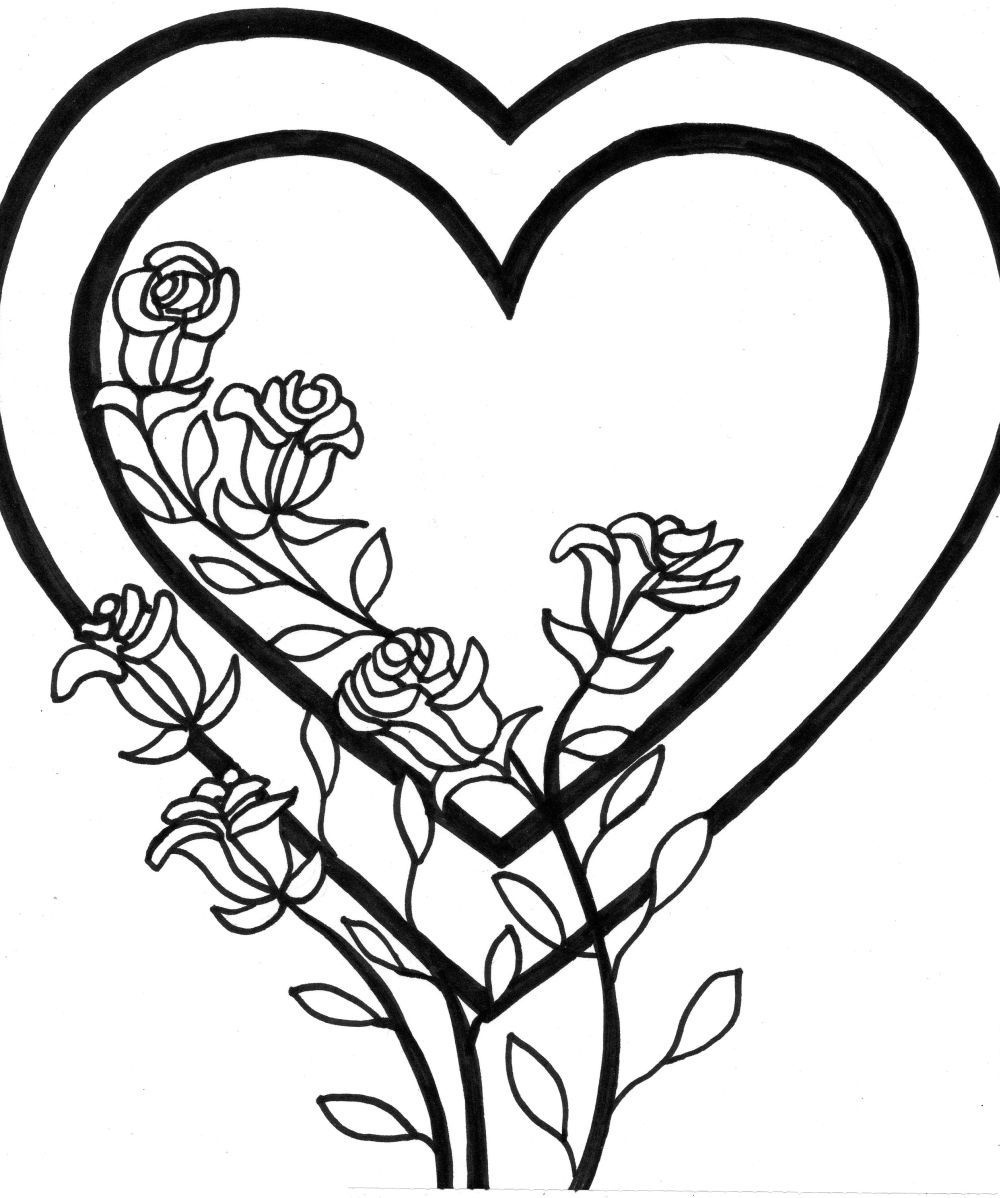 Free Printable Heart Coloring Pages For Kids | Beauty / Style - Free Printable Heart Coloring Pages