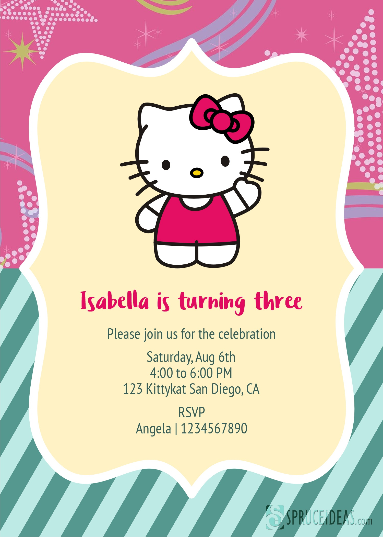 Printable Hello Kitty Invitations Personalized Togo Wpart Co