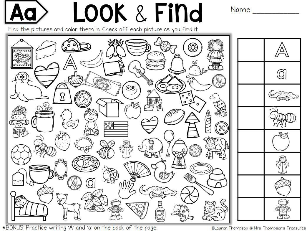 Free, Printable Hidden Picture Puzzles For Kids - Free Printable Seek And Find