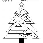 Free Printable Holiday Worksheets | Kindergarten Christmas Maze   Free Printable Holiday Worksheets