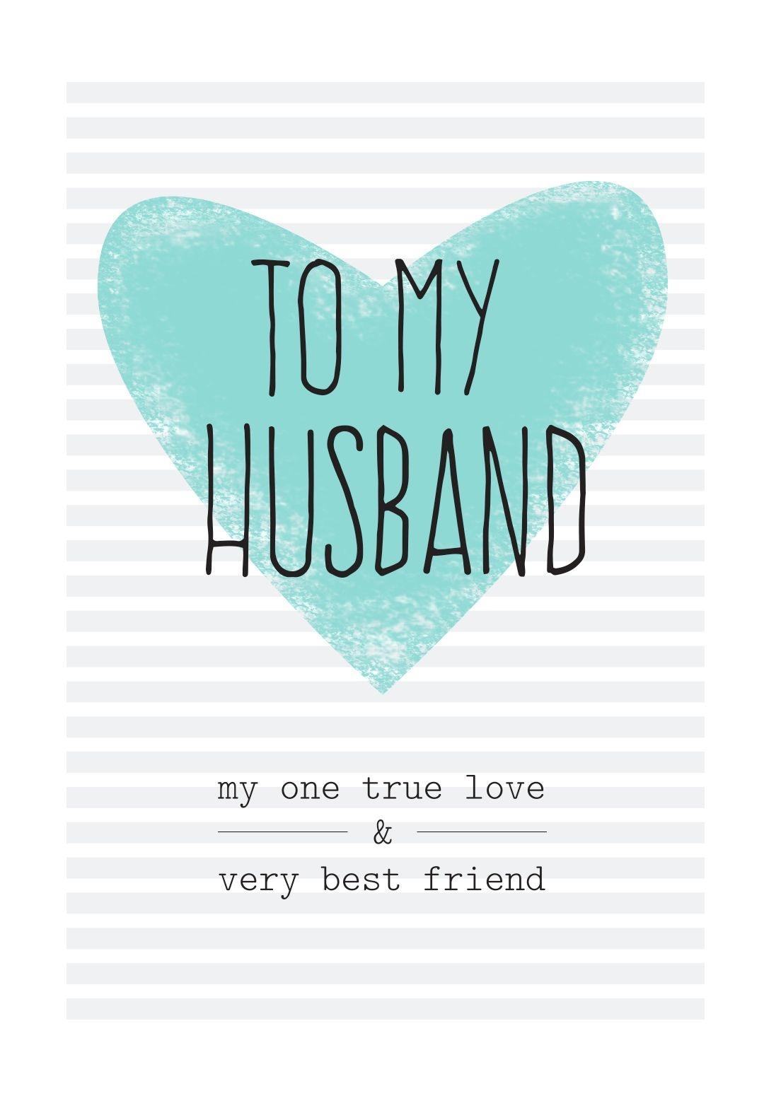 Free Printable Husband Greeting Card | Diy | Free Birthday Card - Free Printable Romantic Birthday Cards